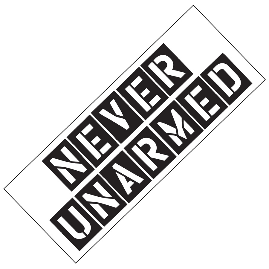 PRNUA - COLD STEEL Never Unarmed Bumper Sticker