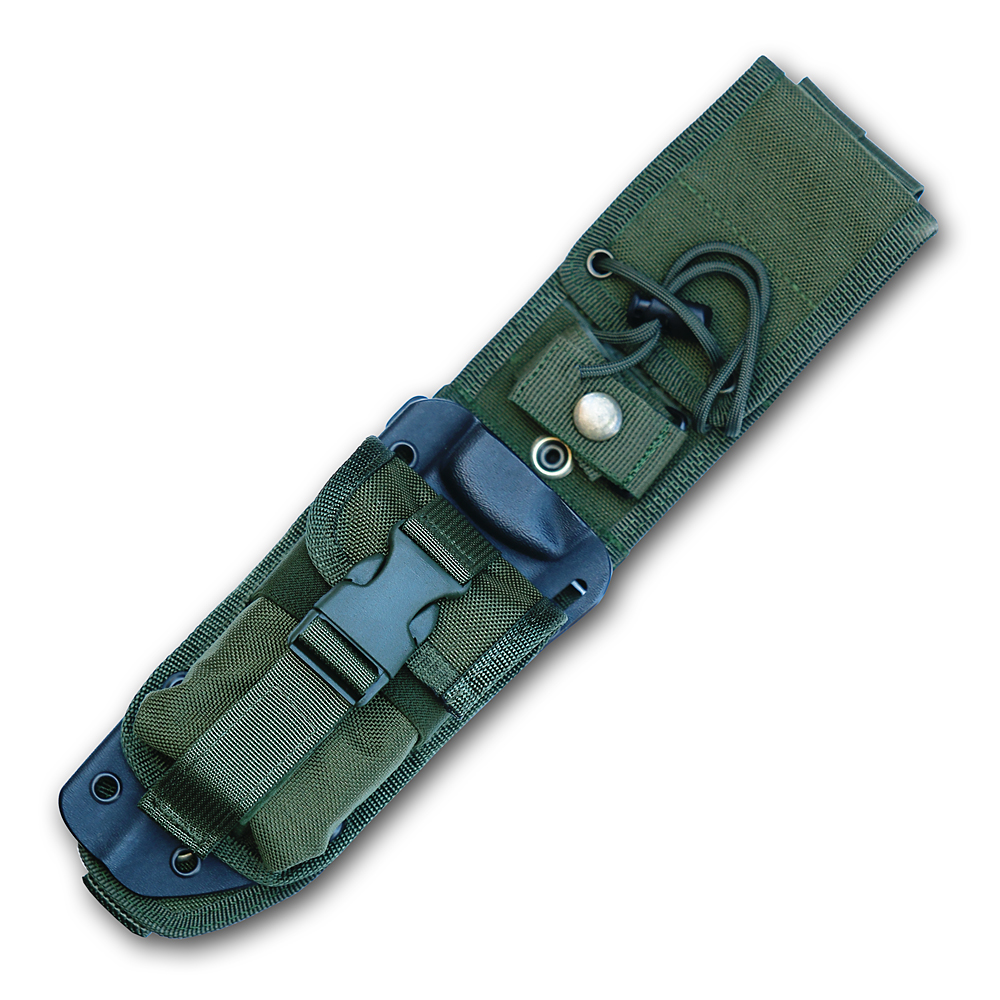 ESEE-5-MBSP-OD - ESEE 5 Black Kydex Sheath, OD MOLLE Back, OD Pouch, NO KNIFE