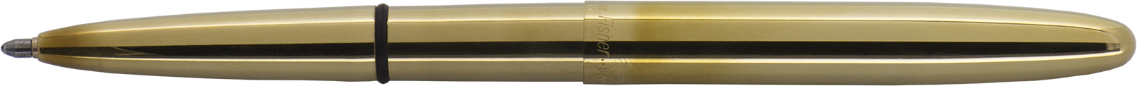400-RAW - FISHER Raw Brass Bullet Space Pen, Black Ink, Med. Point Gift Boxed