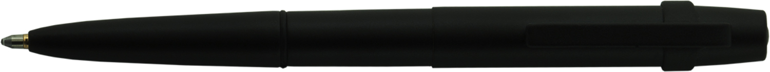 400BWCBCL - FISHER Black Matte Finish Bullet Style w/ Square Top Cap Gift Boxed