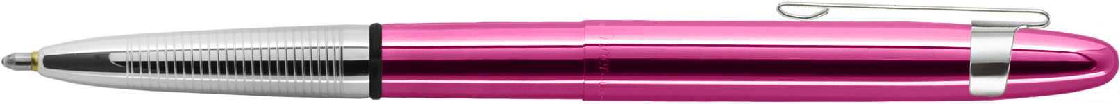 400FFCL - FISHER Fuchsia Flurry Translucent Bullet Space Pen w/ Chrome Clip Gift Boxed