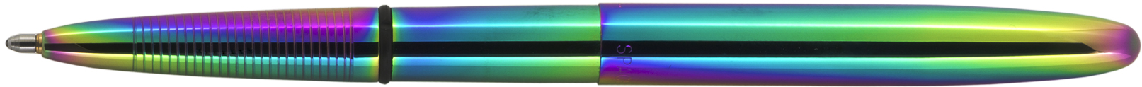 400RB - FISHER Rainbow Titanium Nitride Bullet Space Pen Blue Velour Gift Boxed