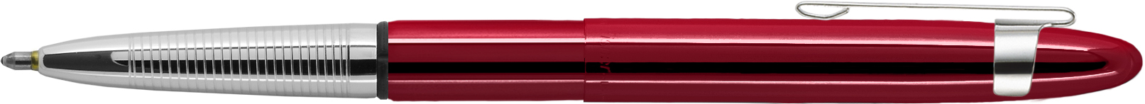 400RCCL - FISHER Red Cherry Translucent Bullet Space Pen w/ Chrome Clip Gift Boxed
