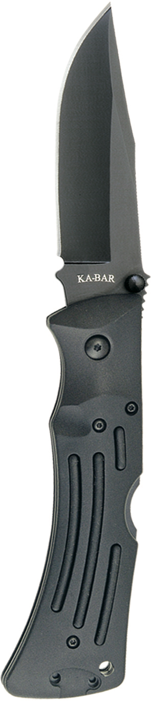 3050 - KA-BAR MULE FOLDER BLACK, BLACK POLYESTER SHEATH, STR