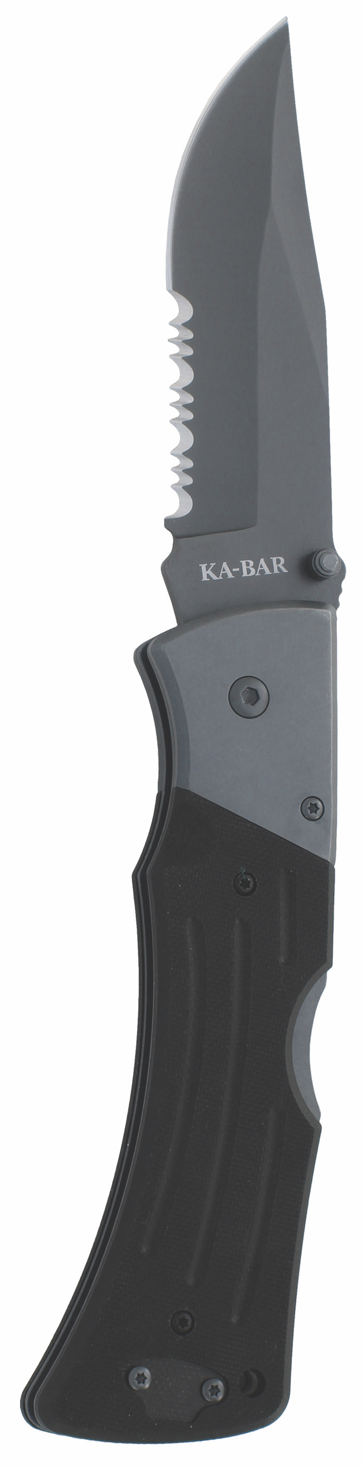 3063 - KA-BAR G10 MULE FOLDER II-BLACK, SERR EDGE
