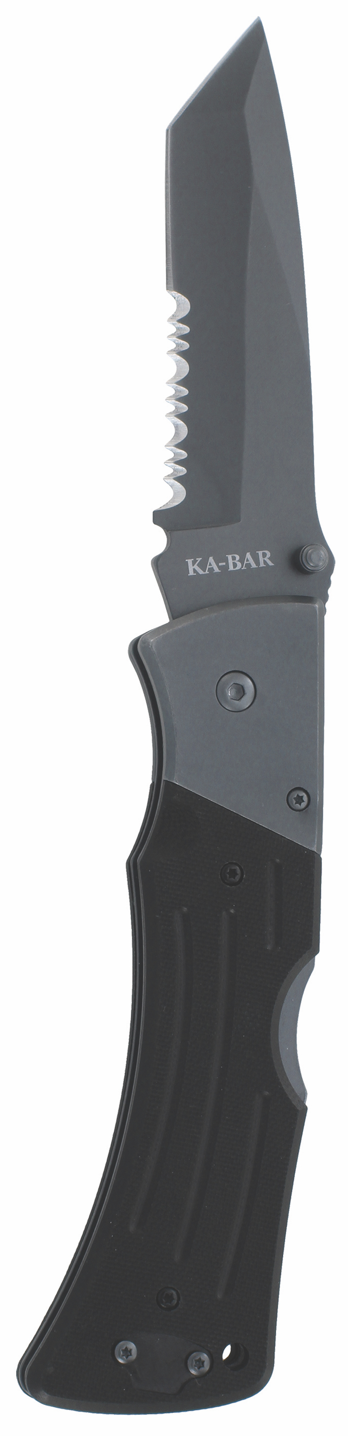 3065 - KA-BAR G10 MULE TANTO FOLDER II-BLACK, SERR EDGE
