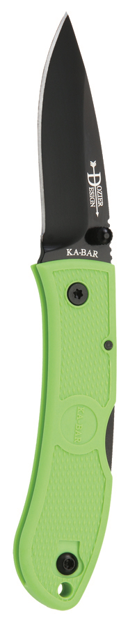 4072ZG - KA-BAR MINI DOZIER FOLDER ZOMBIE GREEN