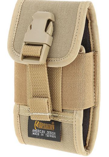 0108K - MAXPEDITION 4'' CLIP ON Phone Holster (Khaki)