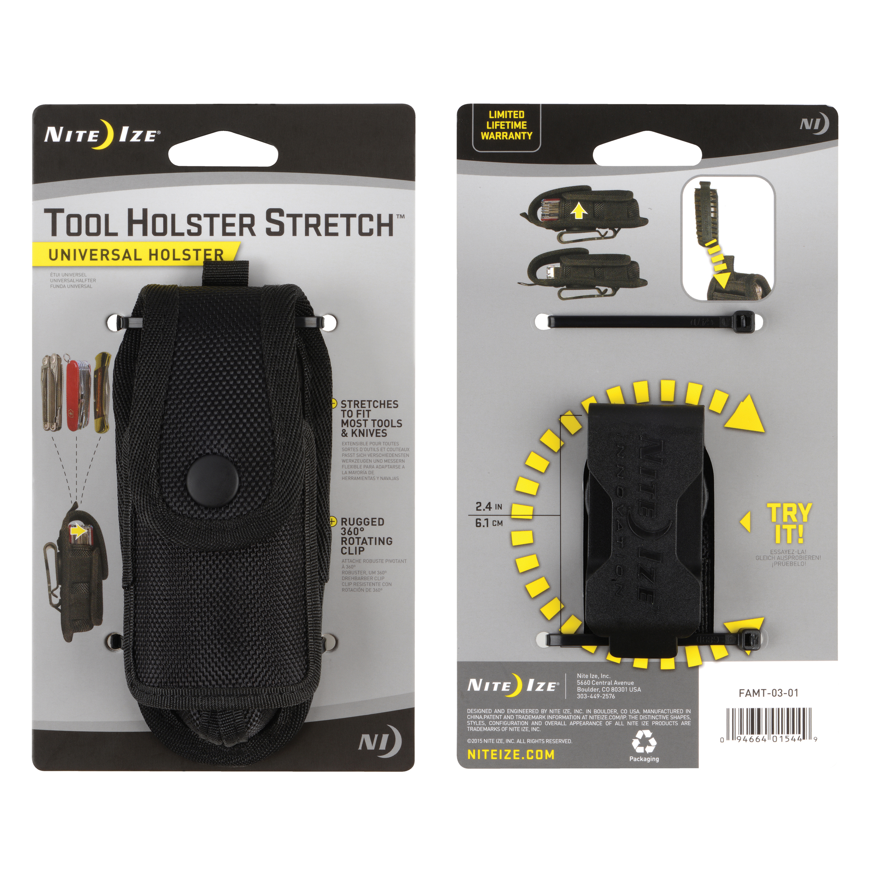 FAMT-03-01 - NITE IZE Tool Holster Stretch Universal Holster