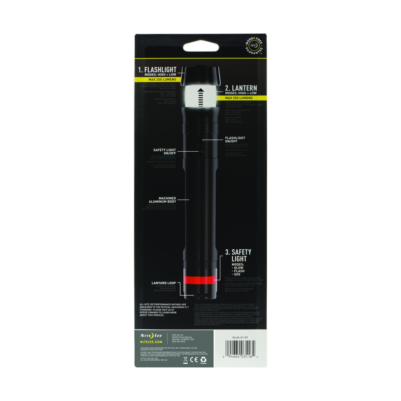 Nite Ize Radiant 3-in-1 LED Flashlight Black Inc NL3A-01-R7