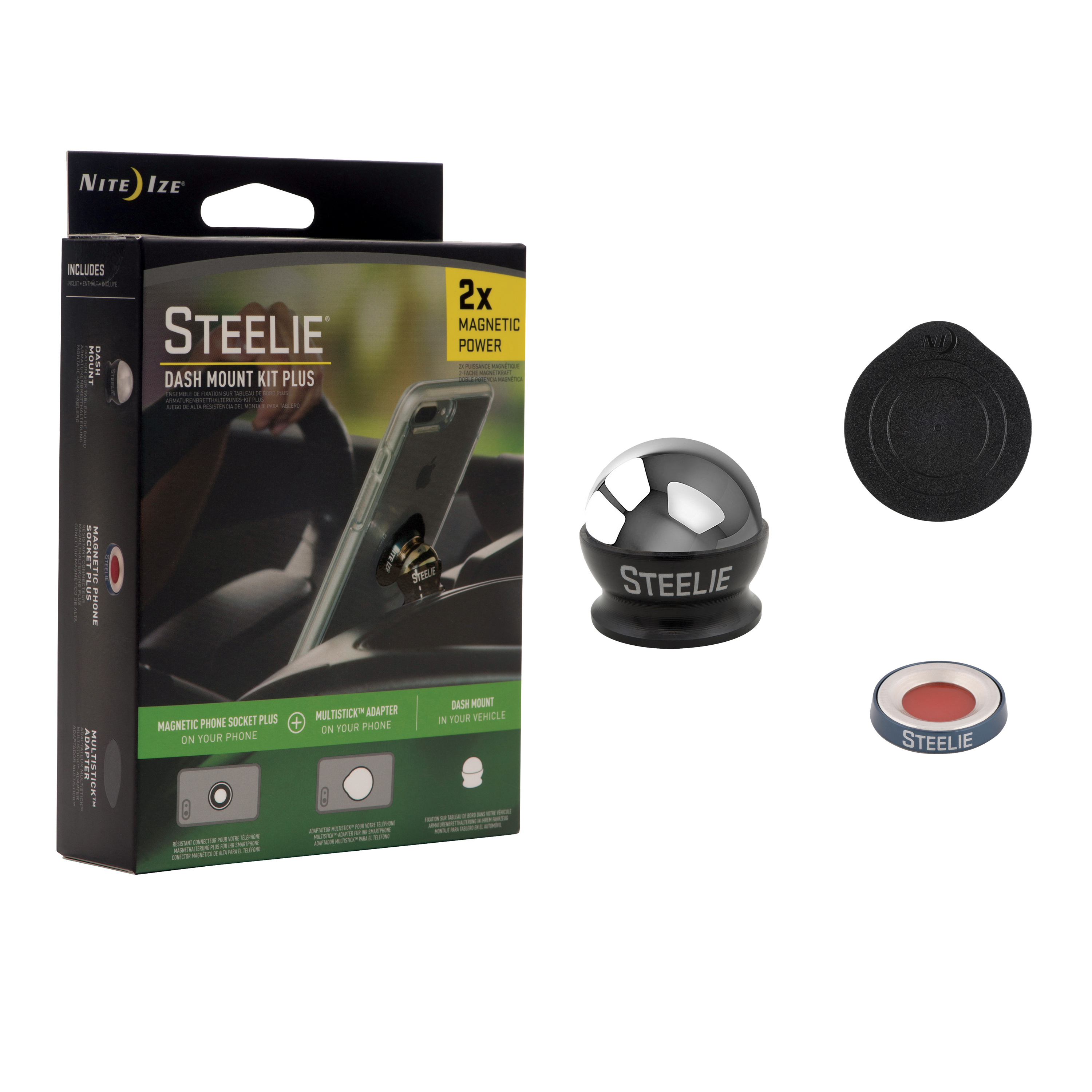NITE IZE Steelie Dash Mount Kit Plus