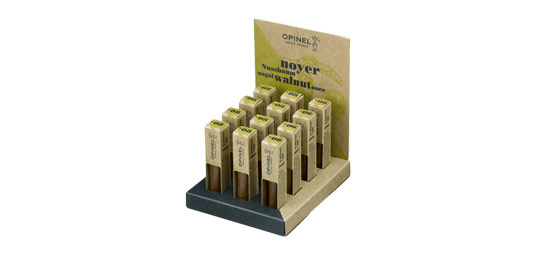 002028 - OPINEL Display Walnut 4 N›06 + 8 N›08