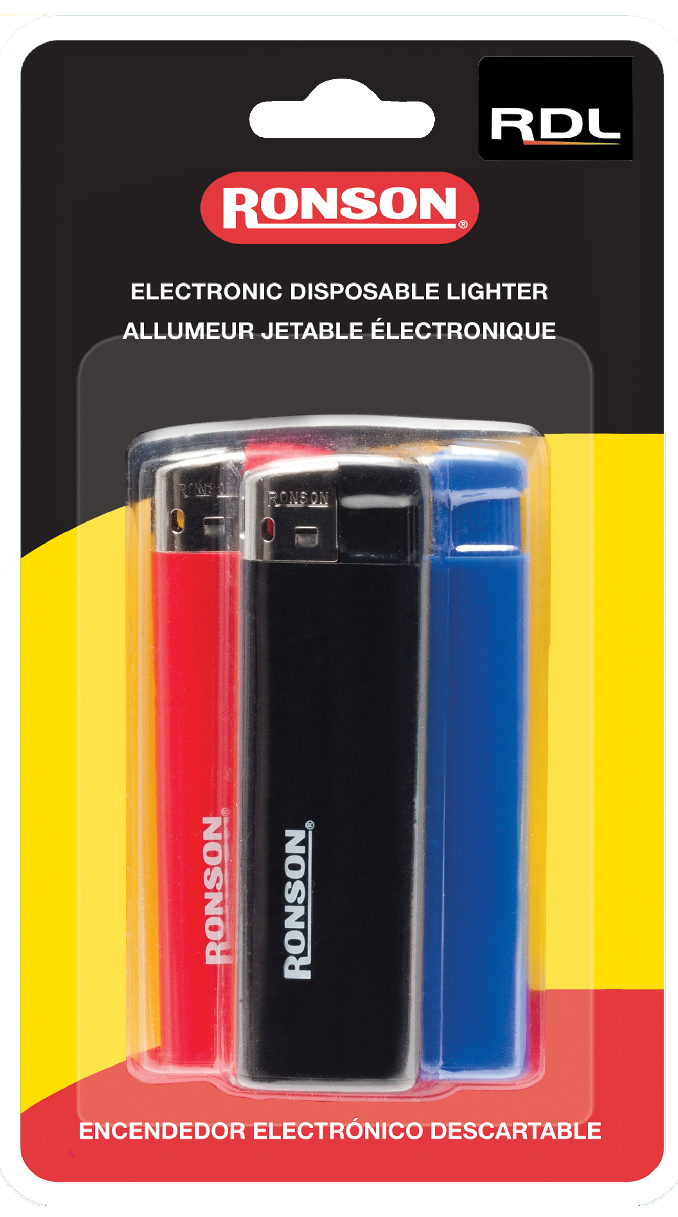 41803 - Ronson Disposable Lighter 3 pack Card