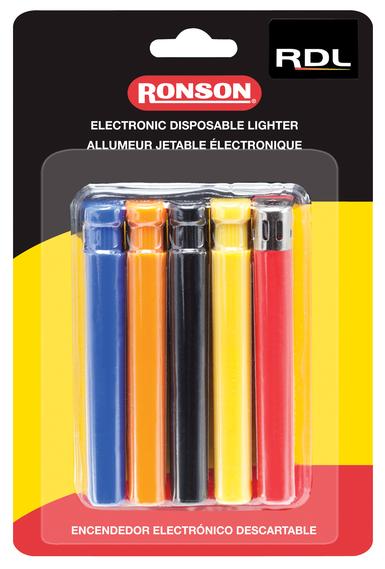 41805 - Ronson Disposable Lighter 5 pack Card