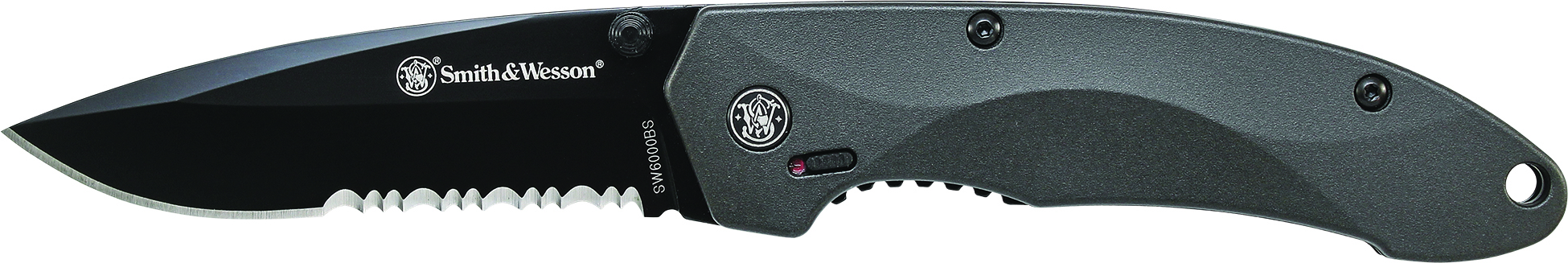 SW6000BS - Smith & Wesson M.A.G.I.C. Assist w/Liner Lock, Thumb Studs, Finger Actuator, 40% Ser 4034 Stainless Steel