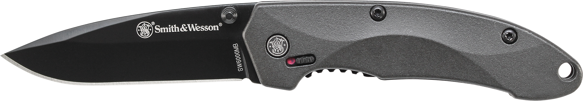 SW6000MB - Smith & Wesson M.A.G.I.C. Mini Assist w/Liner Lock, Thumb Studs, Finger Actuator, 4034 Stainless Steel