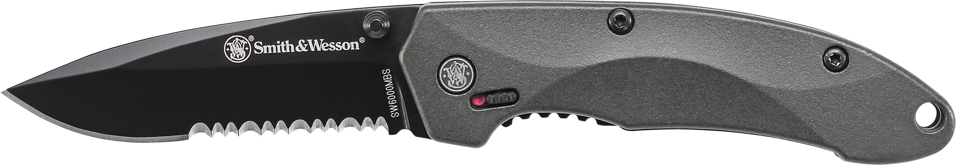 SW6000MBS - Smith & Wesson M.A.G.I.C. Mini Assist w/Liner Lock, Thumb Studs, Finger Actuator, 40% Ser 4034 Stainless Steel