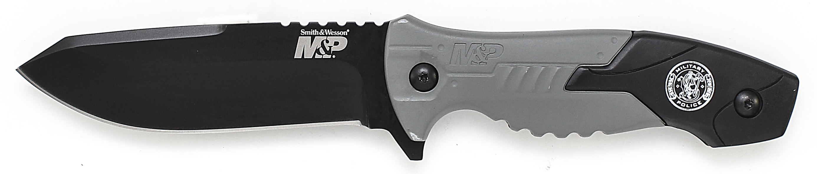 SWMPF2BS - Smith & Wesson M&P Full Tang Tanto Fixed Blade, Aluminum & Rubber Handle, M.O.L.L.E. Compatible Belt Sheath