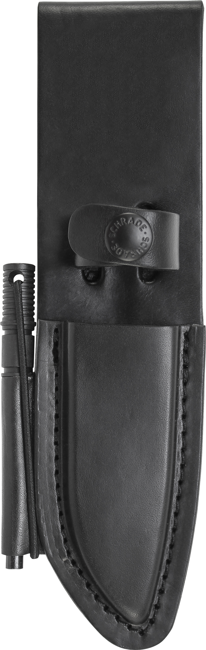 LS56 - Schrade Leather Sheath w/Ferro Rod For SCHF56 Model