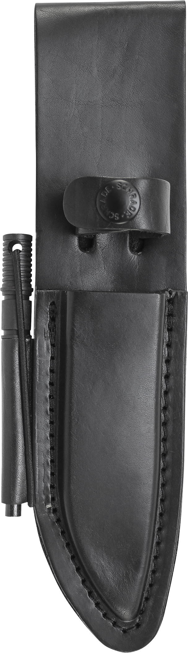 LS56L - Schrade Leather Sheath w/Ferro Rod For SCHF56L Model