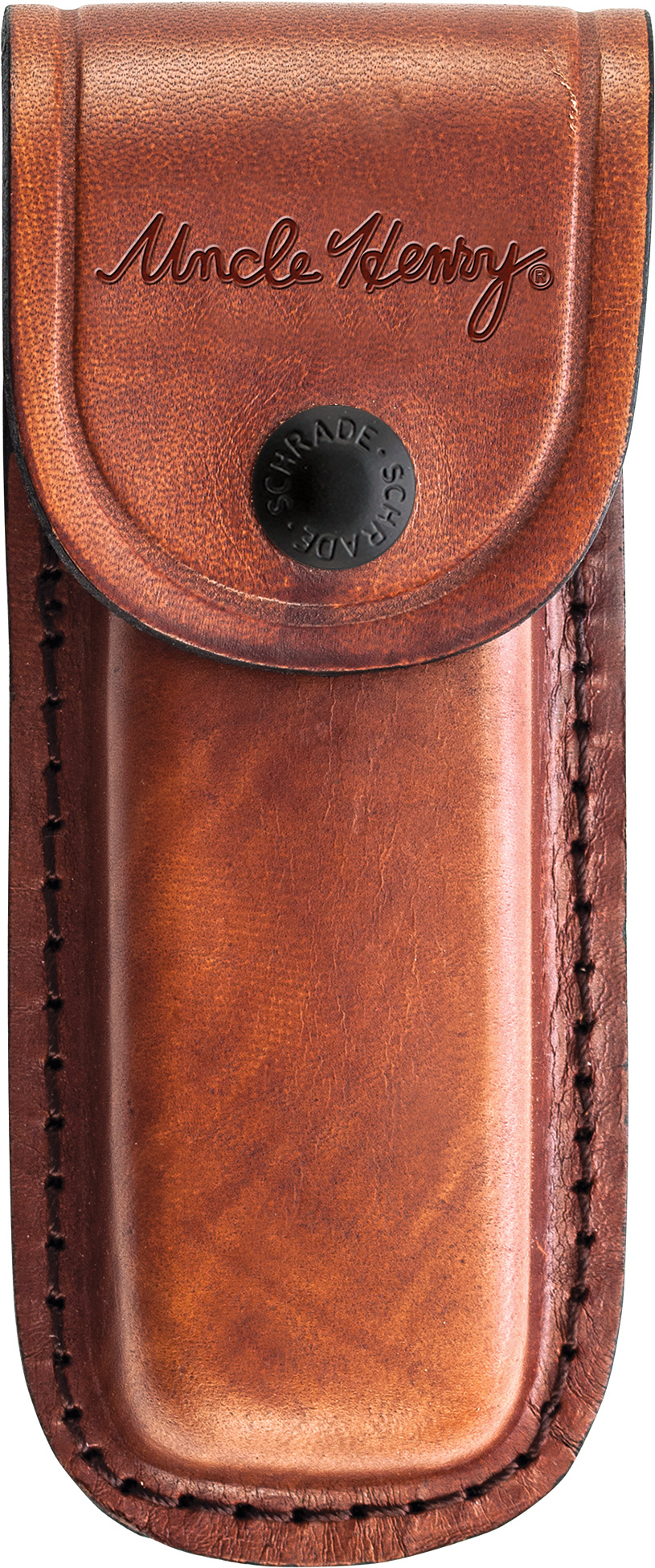 LS6 - Schrade Large Leather Sheath Brown (Uncle Henry)