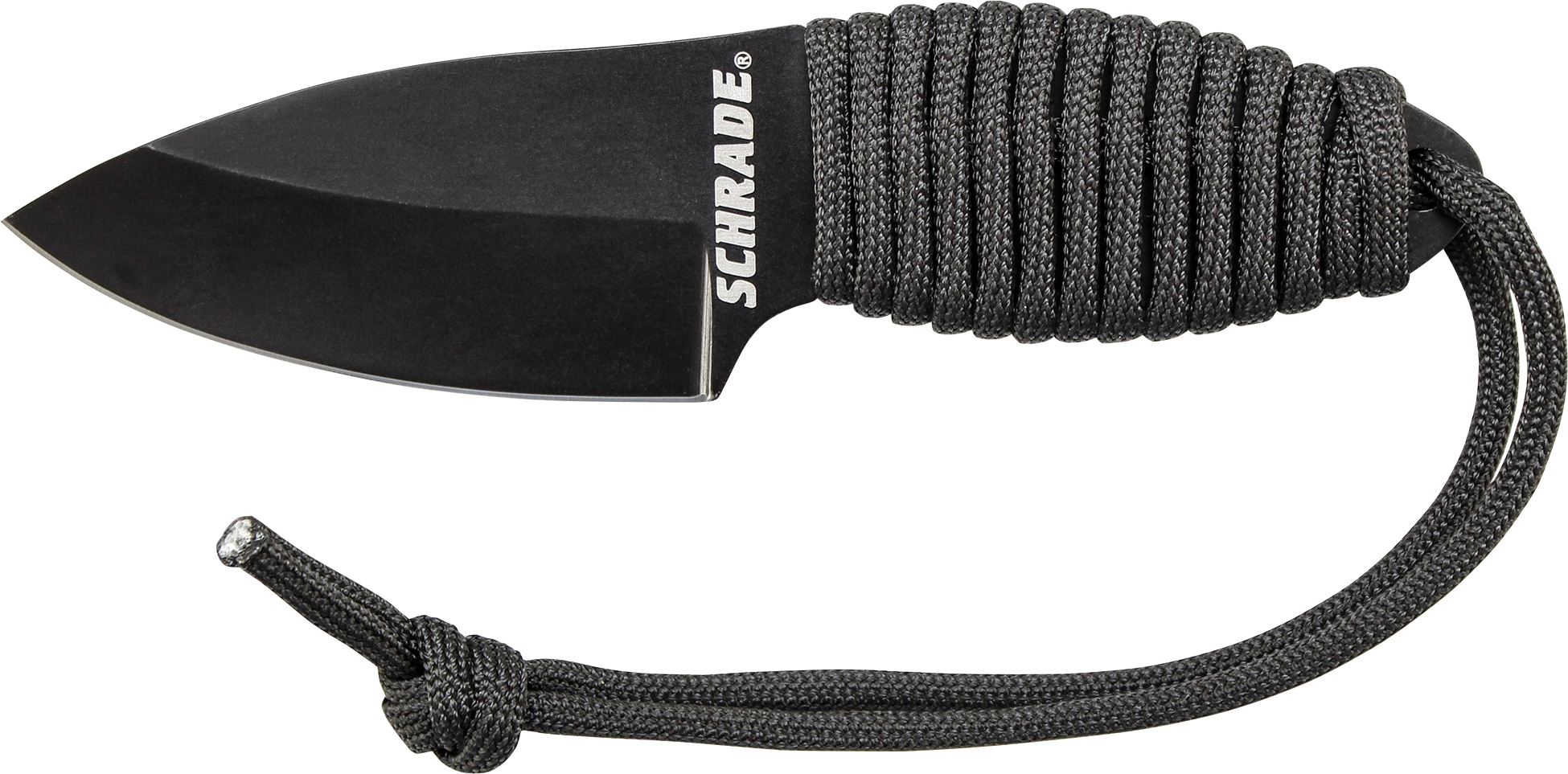 SCH406N - Schrade Small Neck Knife 8Cr13MoV Steel, Paracord Wrapped Handle