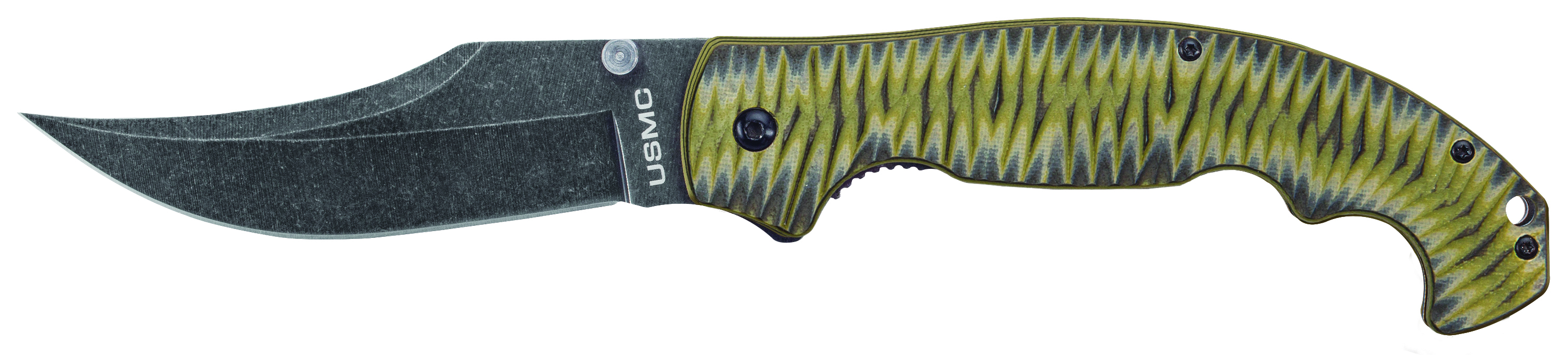 UC3291 - 2018N UNITED CUTLERY USMC FALLOUT ASSISTED OPENING TACTICAL FOLDER