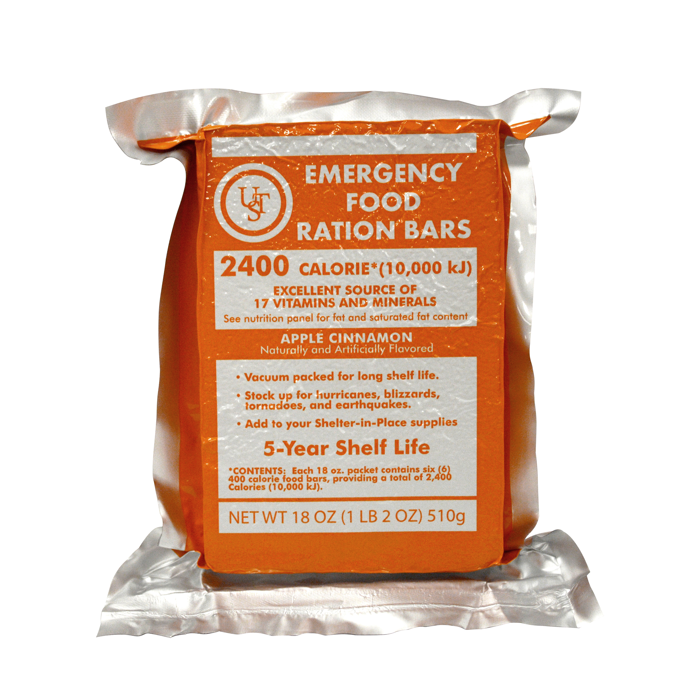 20-02020-06 - UST Brands Emergency Food Ration Bars, PDQ 4-ct PDQ