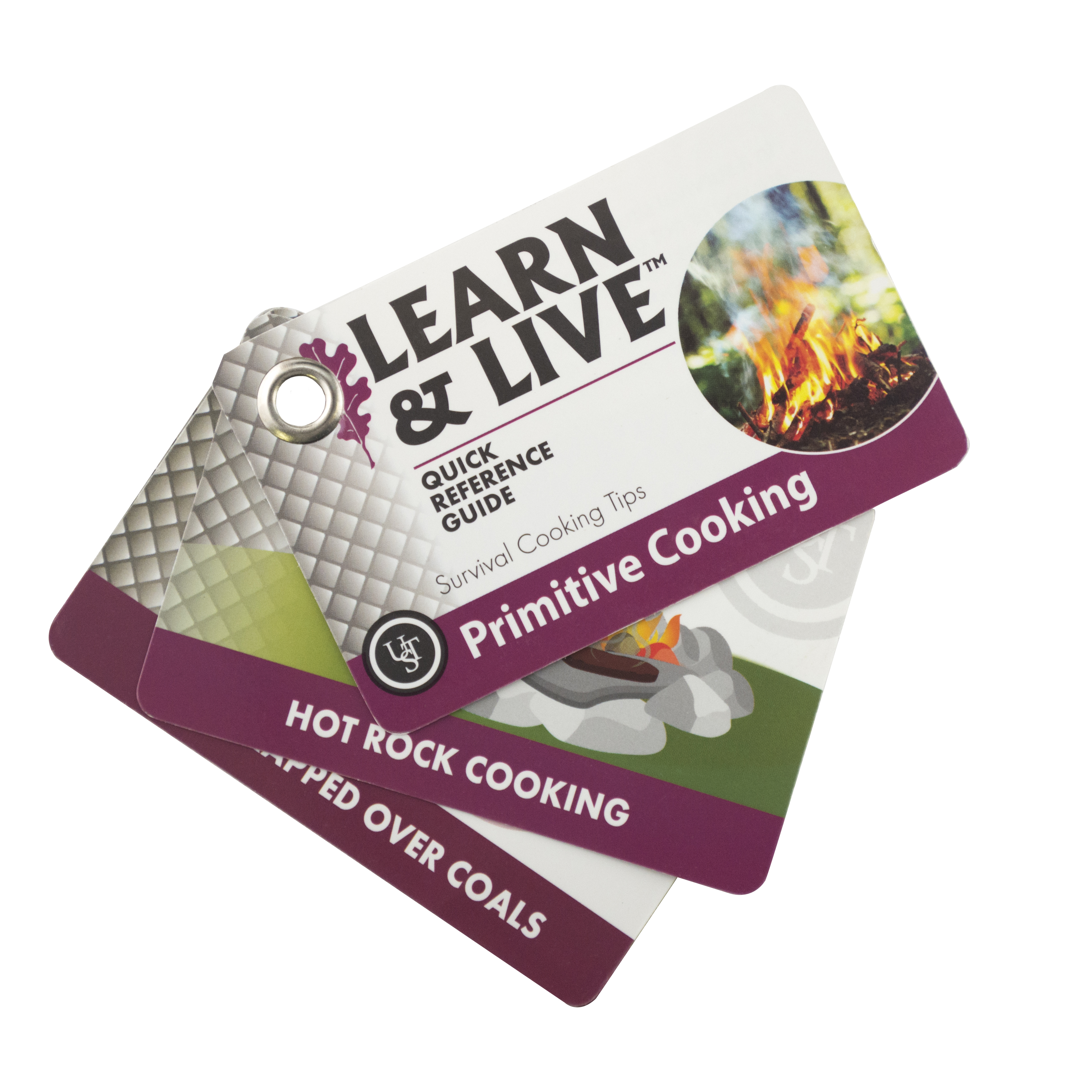 20-02744 - UST Brands Learn & Live Cards - Primitive Cooking Blister