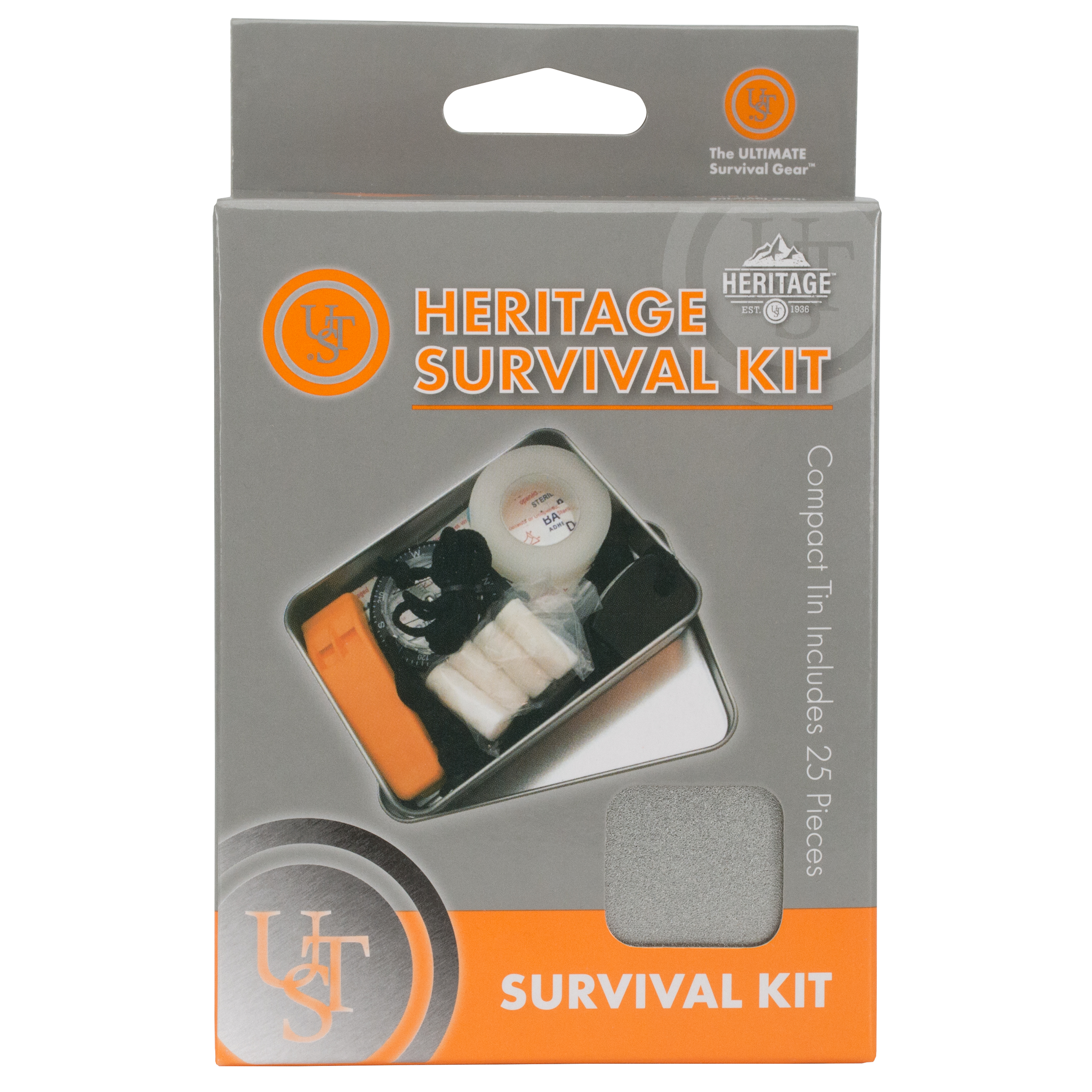 20-12058 - UST Brands Heritage Survival Kit Peggable Box