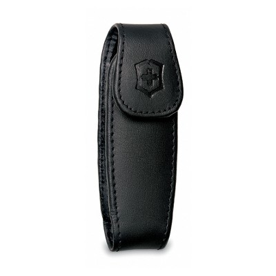 33255 - Victorinox, Medium Pocket Knife Clip Pouch, Leather Black