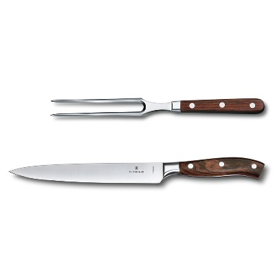 7.7240.2 - VICTORINOX 2-Piece Carving Set, Forged Rosewood (8