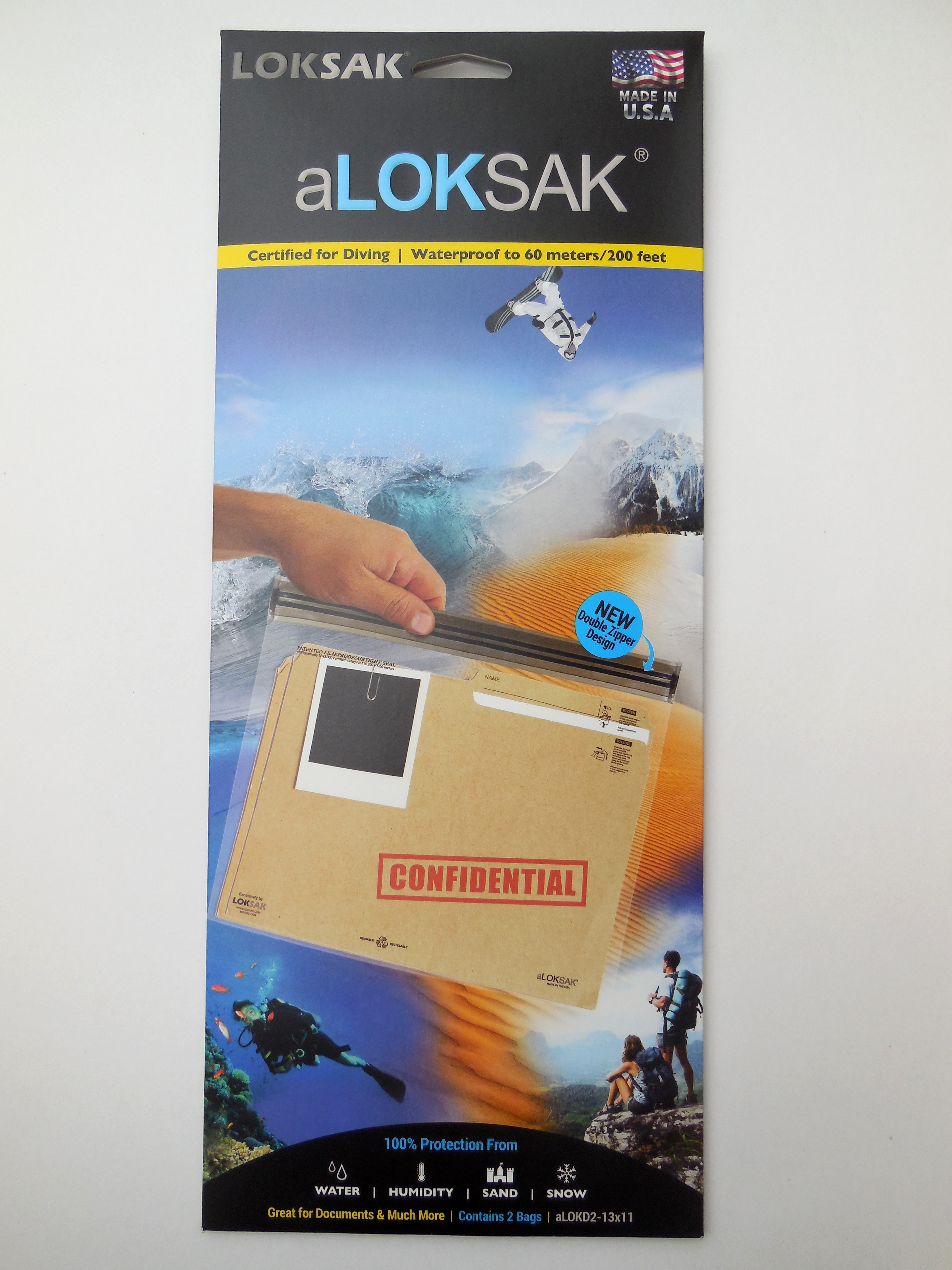 ALOKD2-13x11 - LOKSAK 2 each of 13.5
