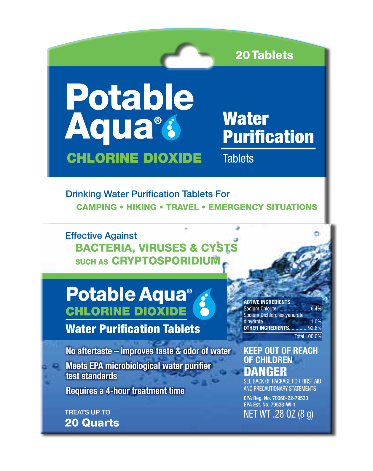 3092 - WPC Potable Aqua Chlorine Dioxide Tablets - 20 Pack