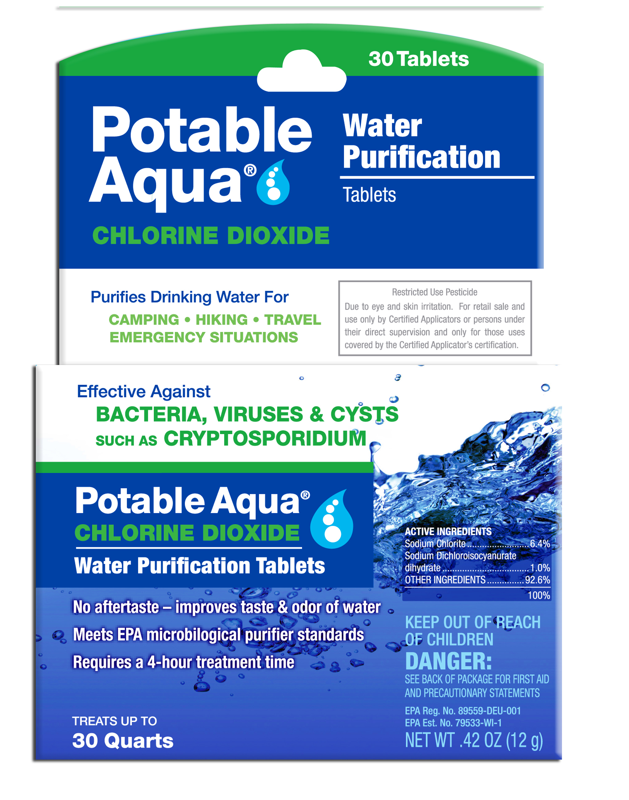 3093 - WPC Potable Aqua Chlorine Dioxide Tablets - 30 Pack