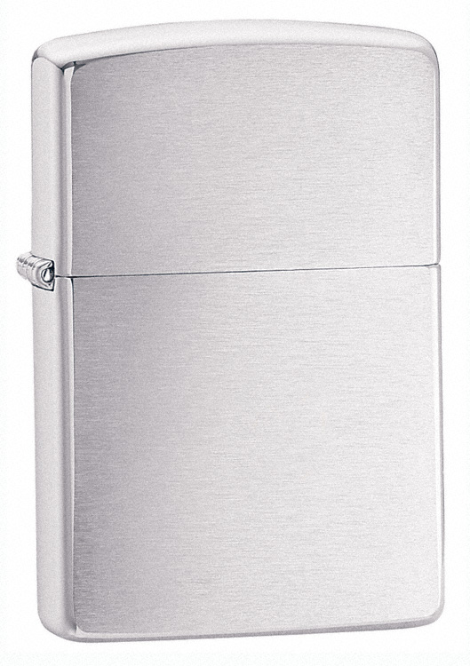 162 - ZIPPO Brushed Finish Armor Wall Chrome