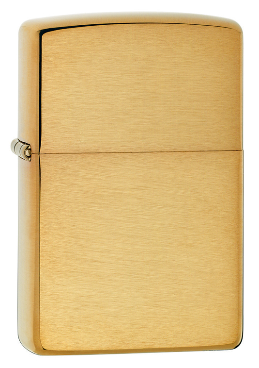 168 - ZIPPO Brushed Finish Armor Wall Brass