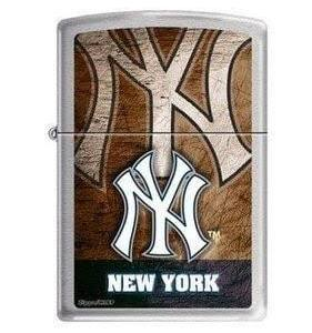 200CI010404 - Zippo PROCUT MLB YANKEES Brushed Chrome Lighter