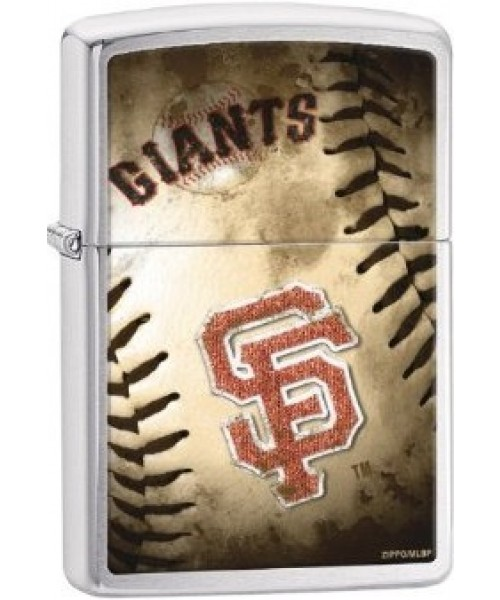 200CI010749 - Zippo PROCUT MLB GIANTS Brushed Chrome Lighter