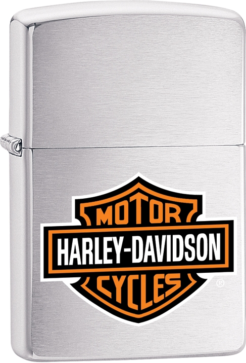 200HD.H252 - Zippo HD Brushed Chrome Lighter, H-D(R) Logo