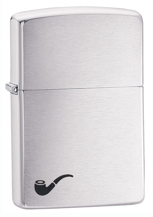 200PL - ZIPPO Brushed Chrome Pipe Lighter