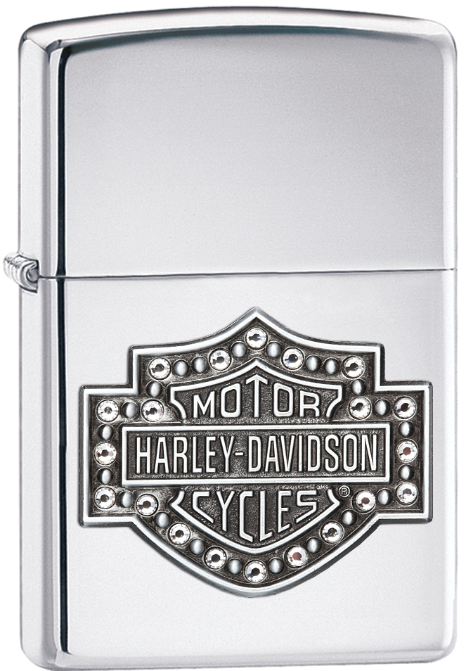 28349 - ZIPPO Harley-Davidson Bar and Shield Crystal