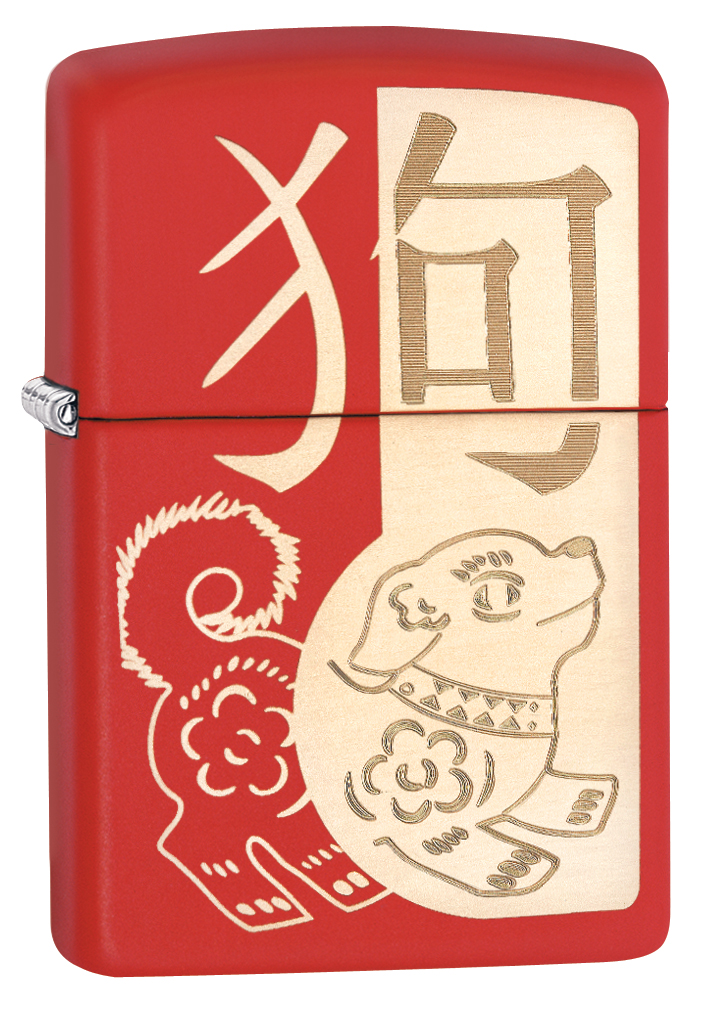 29522 - Zippo Year of the Dog Red Matte