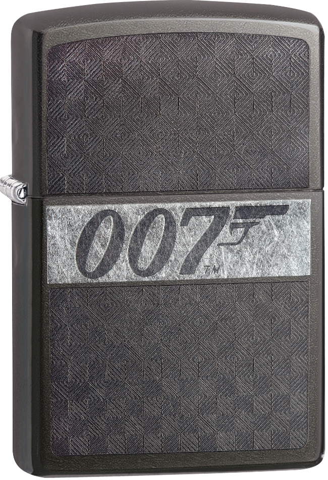 29564 - ZIPPO 007 James Bond on Grey Dusk