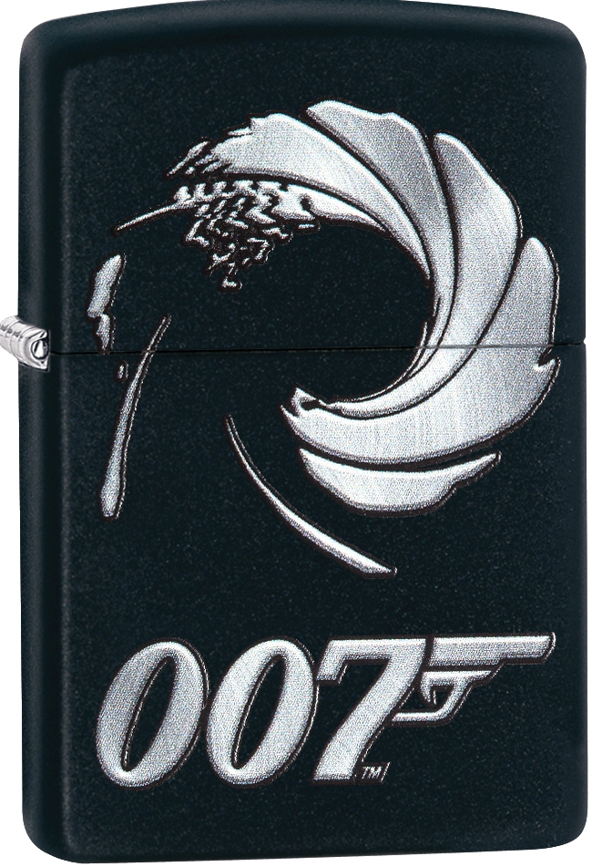 29566 - ZIPPO 007 James Bond On Black Matt