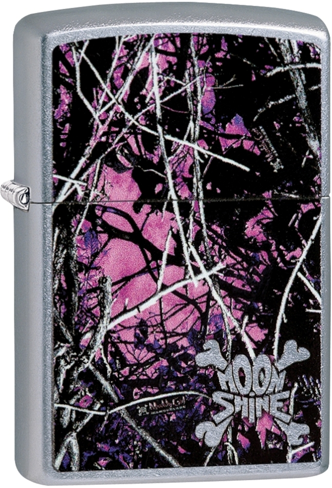 29591 - Zippo Moon Shine Camo Muddy Girl Street Chrome