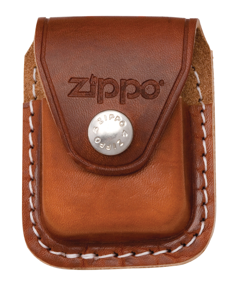 LPCB - ZIPPO Lighter Pouch W/Clip, Brown