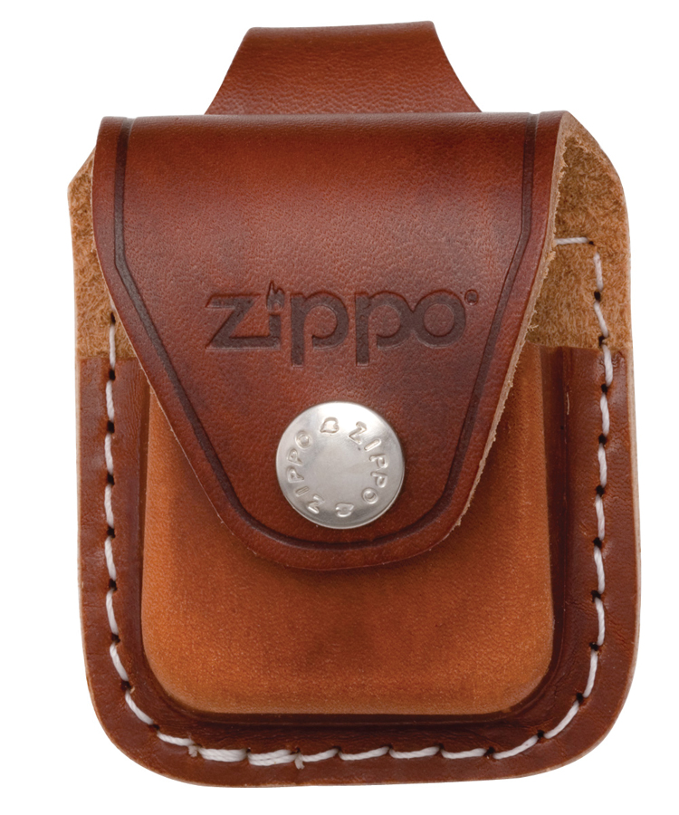LPLB - ZIPPO Lighter Pouch W/Loop, Brown