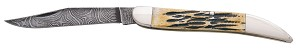 "5193D - BEAR 5"" GENUINE INDIA STAG BONE LG. TOOTHPICK DAMASCUS"