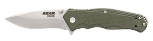 "61102 - BEAR 4 1/2"" OD GREEN G10 SIDELINER W/TRIGGER AND BALL BEARING WASHERS"